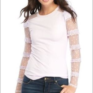 Free People Kiss Kiss Long Sleeve Top